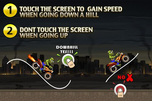 Download Angry zombies: Bike race iPhone free game.