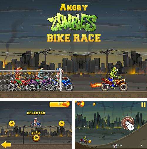 除了 iPhone、iPad 或 iPod 游戏,您还可以免费下载Angry zombies: Bike race, 。