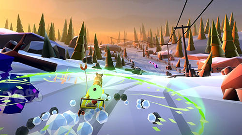 Screenshots do jogo Animal adventure: Downhill rush para iPhone, iPad ou iPod.