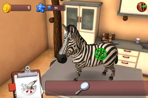 Screenshots of the Animal hospital 3D: Africa game for iPhone, iPad or iPod.