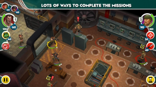 Screenshots of the AntiSquad game for iPhone, iPad or iPod.