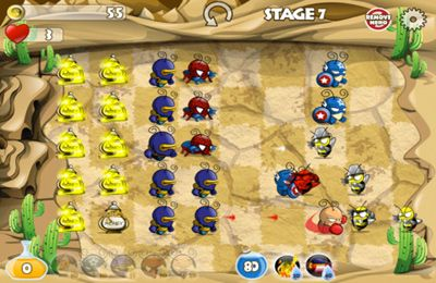 Screenshots vom Spiel Ants Vs. Zombies – Superhero Defense für iPhone, iPad oder iPod.