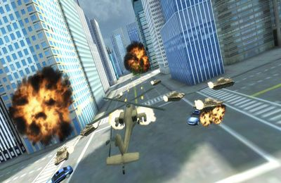Screenshots of the Apache vs Tank in New York! (Air Forces vs Ground Forces!) game for iPhone, iPad or iPod.