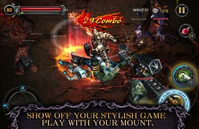 Screenshots vom Spiel Apocalypse Knights – Endless Fighting with Blessed Weapons and Sacred Steeds für iPhone, iPad oder iPod.