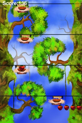 Screenshots of the Apple jump game for iPhone, iPad or iPod.