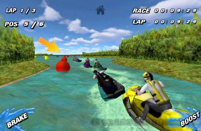 Screenshots do jogo Aqua Moto Racing para iPhone, iPad ou iPod.