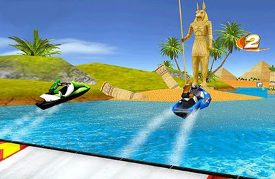 Capturas de pantalla del juego Aqua Moto Racing 2 para iPhone, iPad o iPod.
