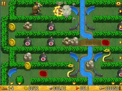 Écrans du jeu Armadillo: Gold rush pour iPhone, iPad ou iPod.