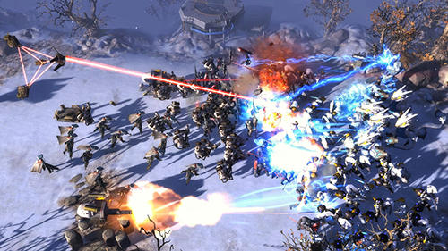 Screenshots of the Art of war: Red tides game for iPhone, iPad or iPod.