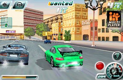Screenshots do jogo Asphalt 4: Elite Racing para iPhone, iPad ou iPod.