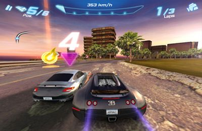 Capturas de pantalla del juego Asphalt 6 Adrenaline para iPhone, iPad o iPod.