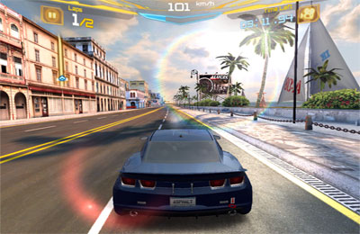 Screenshots do jogo Asphalt 7: Heat para iPhone, iPad ou iPod.