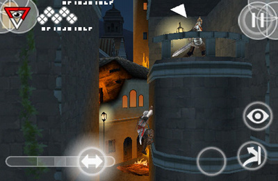 iPhone、iPad または iPod 用Assassin's Creed II Discoveryゲームのスクリーンショット。