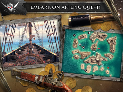 Screenshots vom Spiel Assassin's Creed Pirates für iPhone, iPad oder iPod.