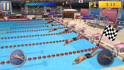 Screenshots vom Spiel Athletics 2: Summer sports für iPhone, iPad oder iPod.