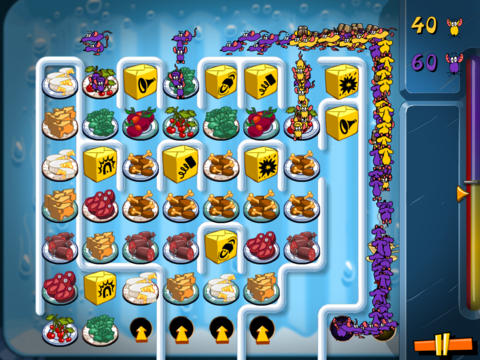 Screenshots vom Spiel Attack the Fridge! für iPhone, iPad oder iPod.
