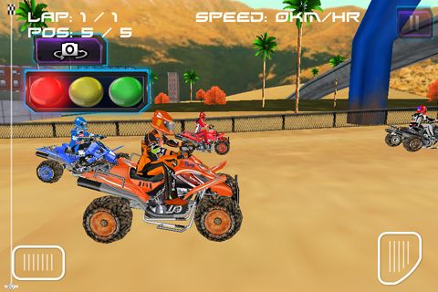 Free ATV quad racer download for iPhone, iPad and iPod.