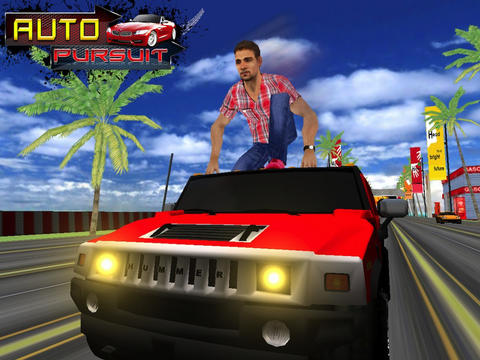 Capturas de pantalla del juego Auto Pursuit para iPhone, iPad o iPod.