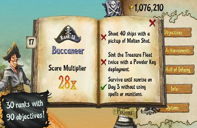 Capturas de pantalla del juego Awesome Pirates para iPhone, iPad o iPod.