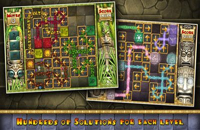 Screenshots of the Aztec Puzzle game for iPhone, iPad or iPod.