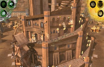 Screenshots of the Babel Rising 3D game for iPhone, iPad or iPod.