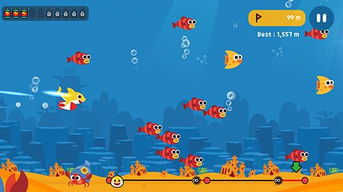 Screenshots of the Baby shark fly game for iPhone, iPad or iPod.
