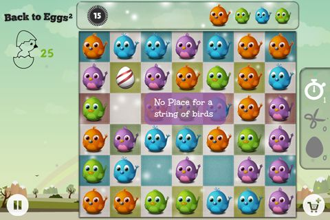 Écrans du jeu Back to eggs pour iPhone, iPad ou iPod.