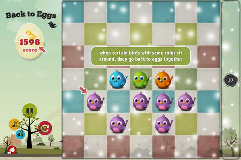Screenshots vom Spiel Back to eggs für iPhone, iPad oder iPod.