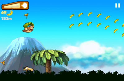 Capturas de pantalla del juego Banana Kong para iPhone, iPad o iPod.