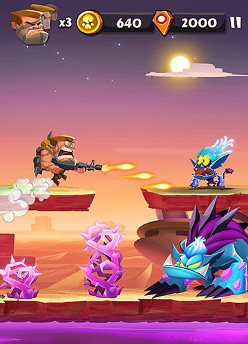 Screenshots do jogo Band of badasses: Run and shoot para iPhone, iPad ou iPod.