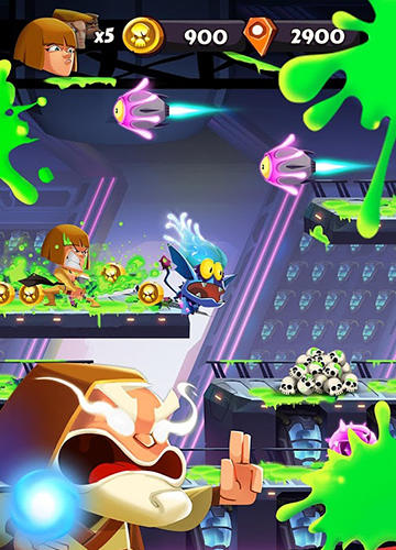 Screenshots of the Band of badasses: Run and shoot game for iPhone, iPad or iPod.