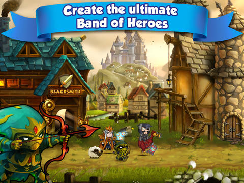 Kostenloser Download von Band of Heroes: Battle for Kingdoms für iPhone, iPad und iPod.