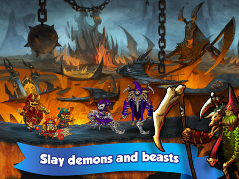 Écrans du jeu Band of Heroes: Battle for Kingdoms pour iPhone, iPad ou iPod.