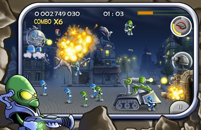 Screenshots of the Base Defender game for iPhone, iPad or iPod.