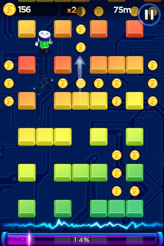 Capturas de pantalla del juego Battery run! para iPhone, iPad o iPod.