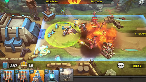 Screenshots of the Battle boom game for iPhone, iPad or iPod.
