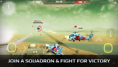 Screenshots of the Battle copters game for iPhone, iPad or iPod.