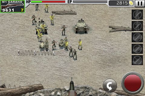 Screenshots vom Spiel Battle: Defence line für iPhone, iPad oder iPod.