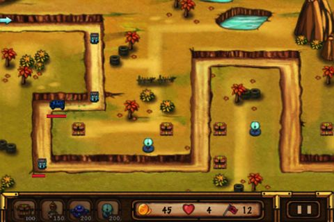 Screenshots vom Spiel Battle: Defender für iPhone, iPad oder iPod.