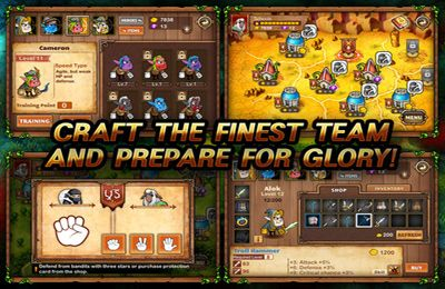 Screenshots of the Battle Line game for iPhone, iPad or iPod.