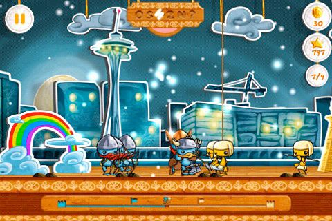 Écrans du jeu Battle of puppets pour iPhone, iPad ou iPod.