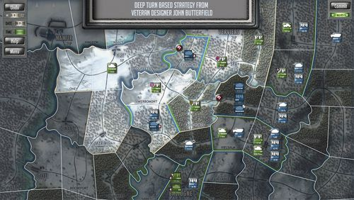 Screenshots of the Battle of the Bulge game for iPhone, iPad or iPod.