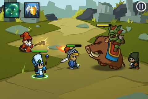 Capturas de pantalla del juego Battleheart para iPhone, iPad o iPod.