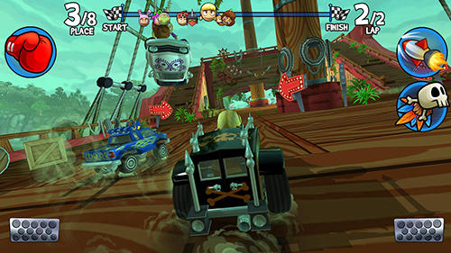 Screenshots do jogo Beach buggy racing 2 para iPhone, iPad ou iPod.