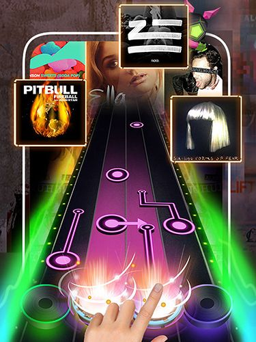 Screenshots vom Spiel Beat fever: Music tap rhythm game für iPhone, iPad oder iPod.
