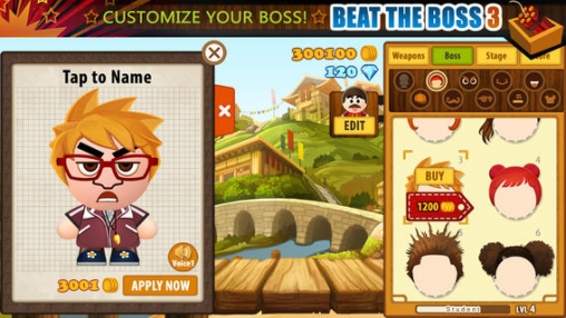 Capturas de pantalla del juego Beat the Boss 3 para iPhone, iPad o iPod.