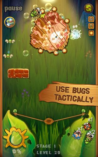 Screenshots of the Beetle breaker game for iPhone, iPad or iPod.