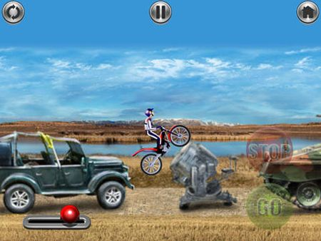 Screenshots of the Bike mania game for iPhone, iPad or iPod.