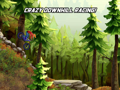 Free Bike mayhem mountain racing download for iPhone, iPad and iPod.