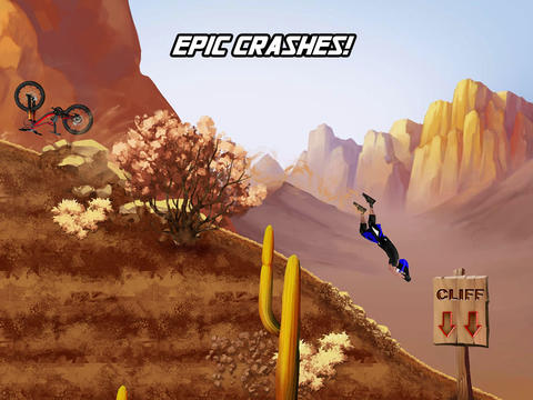 Screenshots vom Spiel Bike mayhem mountain racing für iPhone, iPad oder iPod.